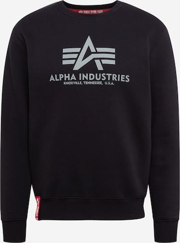 ALPHA INDUSTRIESSweater majica 'Reflective Print' - crna boja