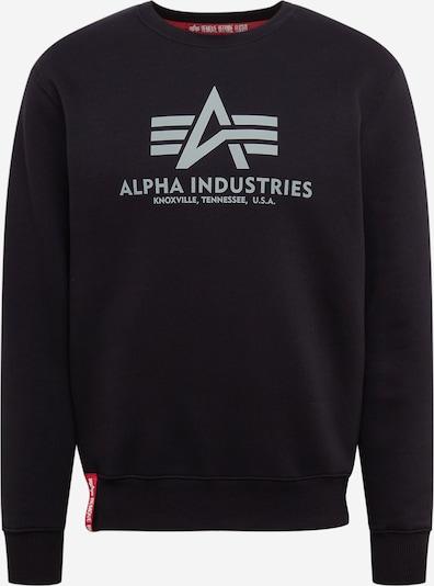 ALPHA INDUSTRIES Bluzka sportowa 'Basic Sweater Reflective Print' w kolorze czarnym, Podgląd produktu