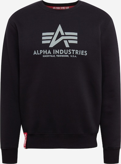 ALPHA INDUSTRIES Mikina 'Basic Sweater Reflective Print' - čierna, Produkt