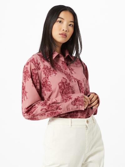 HUGO Bluse 'Erselia' in pastellrot / dunkelrot, Modelansicht