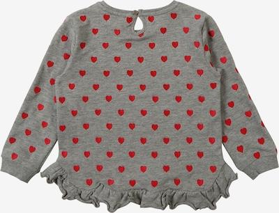 NAME IT Sweatshirt in graumeliert / rot: Rückansicht
