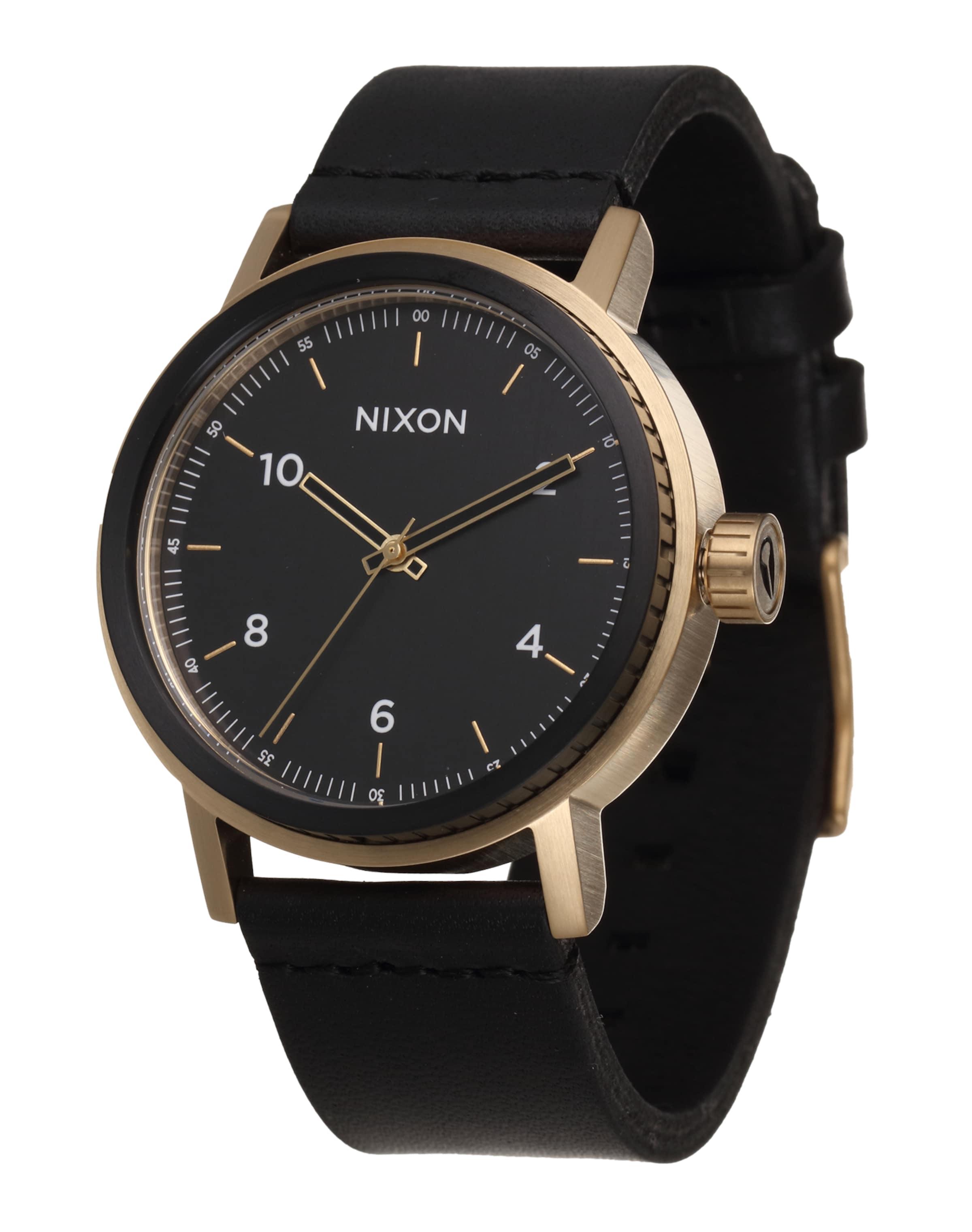 Mode Online-Verkauf Neueste Günstig Online Nixon Armbanduhr 'Stark Leather' uKJZA