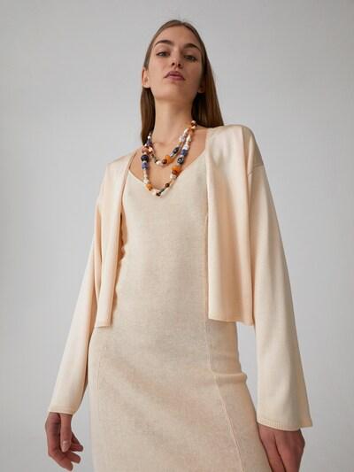 EDITED Strickjacke 'Leanna' in beige / creme, Modelansicht