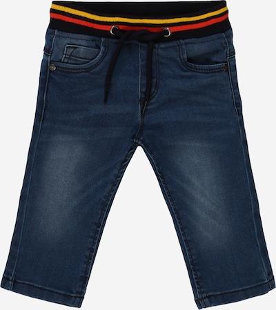 BLUE SEVEN Jeans in blue denim / goldgelb / hellrot / schwarz, Produktansicht