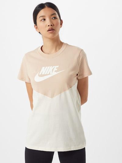 Nike Sportswear Shirt in de kleur Beige / Wit: Vooraanzicht