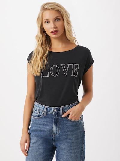 STREET ONE Shirt in schwarz / silber: Frontalansicht