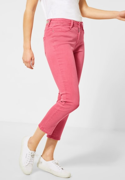 STREET ONE Colour-Denim im Slim Fit in pink, Modelansicht