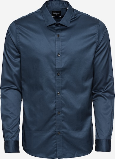 Only & Sons Overhemd 'onsALVES LS 2-PLY EASY IRON SHIRT NOOS' in de kleur Navy, Productweergave