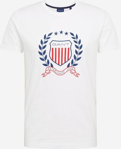 Tricou GANT pe albastru / roșu / alb, Vizualizare produs