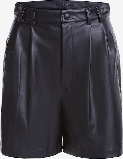 Klostuotos kelnės iš SET , spalva - juoda, Prekių apžvalga