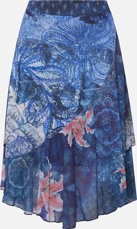 En Bleu Desigual nala' MarineMélange Jupe 'fal Couleurs De P8wOXk0Nn