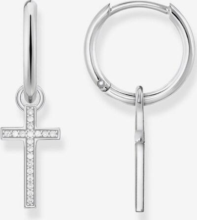 Thomas Sabo Creolen 'Kreuz' in silber, Produktansicht