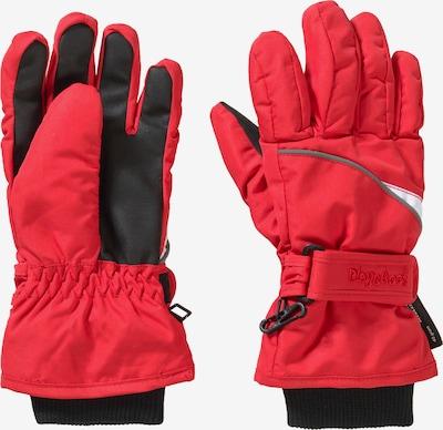 PLAYSHOES Handschuhe in rot / schwarz, Produktansicht