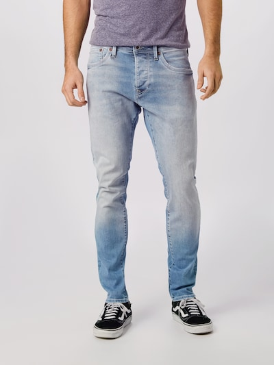 Pepe Jeans Jeans 'STANLEY REPAIR' in blue denim: Frontalansicht
