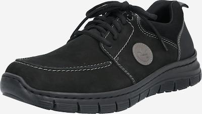 Pantofi cu șireturi RIEKER pe negru, Vizualizare produs