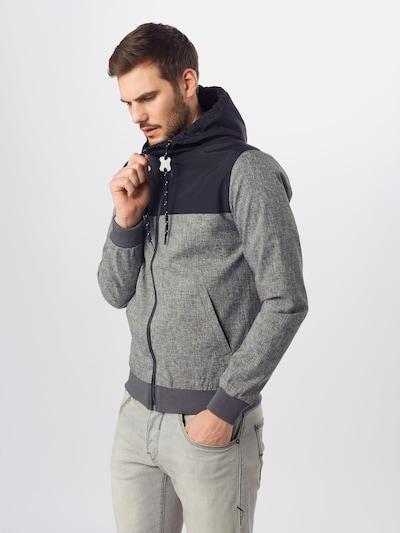 INDICODE JEANS Prijelazna jakna 'Brushwood' u plava / siva: Prednji pogled
