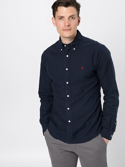 Polo Ralph Lauren Hemd in navy / rot: Frontalansicht