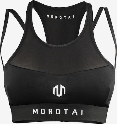 Sutien sport MOROTAI pe negru / alb, Vizualizare produs