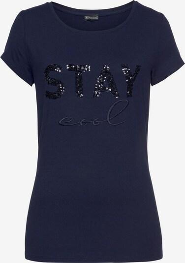 LAURA SCOTT Rundhalsshirt in schwarz, Produktansicht