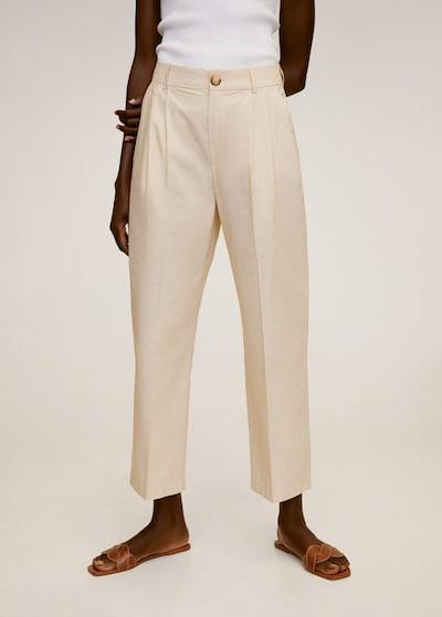 MANGO Hose in beige, Modelansicht