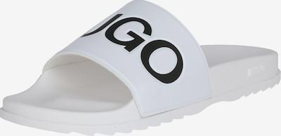 HUGO Sandales 'Match_Slid_rblg' en blanc, Vue avec produit