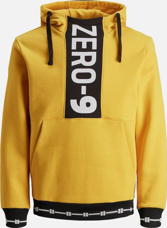 c857705f099a12 JACK   JONES JONES JONES Hoodie  Grafik  in gelb schwarz weiß Große  Preissenkung afebc8