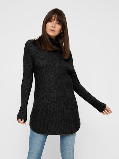 PIECES Pullover in schwarzmeliert, Modelansicht