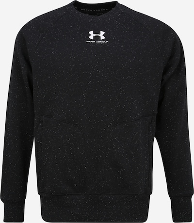 UNDER ARMOUR Sportsweatshirt  'SPECKLED FLEECE CREW' in schwarz / weiß, Produktansicht