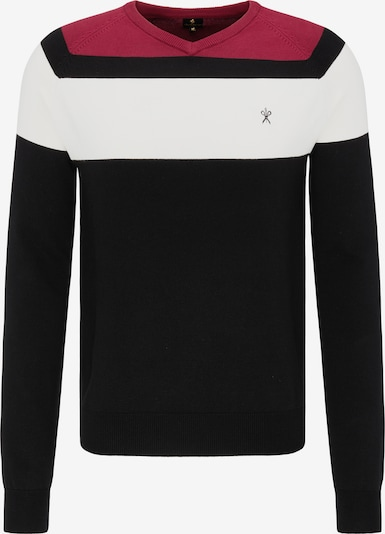 DREIMASTER Trui in de kleur Robijnrood / Zwart / Wit, Productweergave