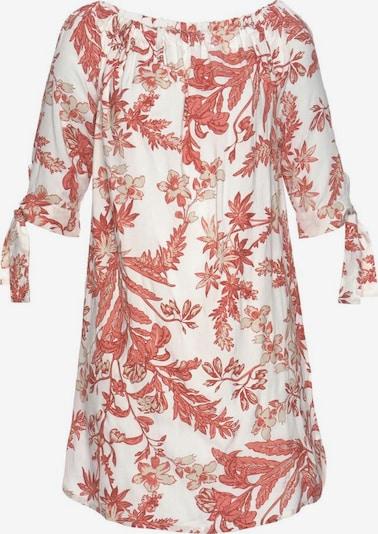 LASCANA Blusenkleid in mischfarben / weiß, Produktansicht