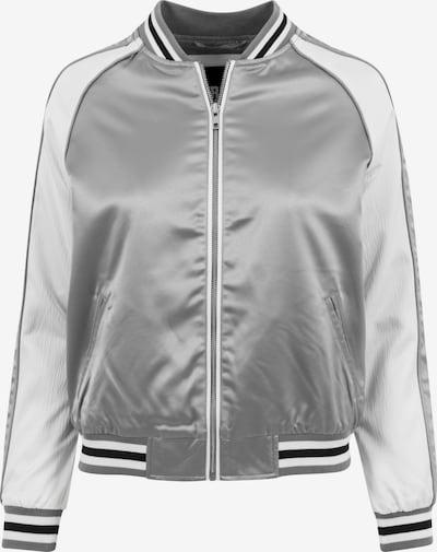 Urban Classics Tussenjas in de kleur Zwart / Zilver / Offwhite, Productweergave