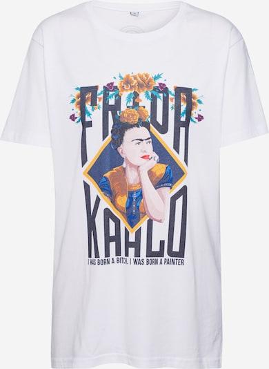 Merchcode T-Krekls 'Frida Kahlo' pieejami jauktu krāsu / balts, Preces skats