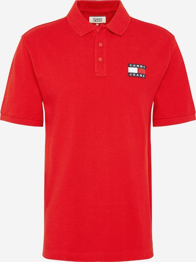Tommy Jeans Poloshirt 'BADGE POLO' in rot, Produktansicht