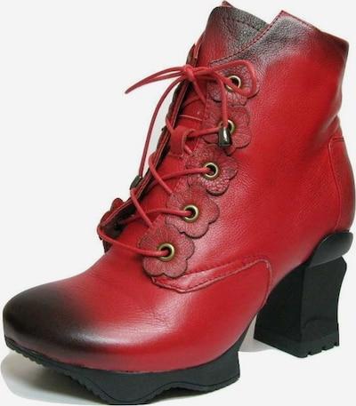 Laura Vita Veterlaarsjes in de kleur Rood / Zwart, Productweergave
