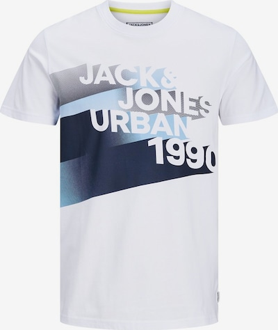 JACK & JONES T-Shirt in blau / weiß, Produktansicht