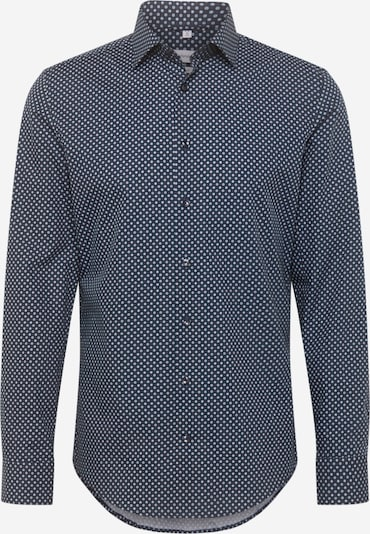 SEIDENSTICKER Overhemd in de kleur Smoky blue / Donkerblauw / Wit, Productweergave