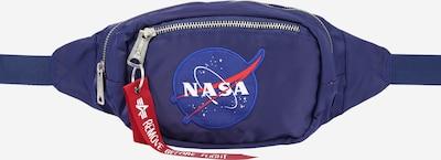 ALPHA INDUSTRIES Gürteltasche 'Nasa' in blau / rot / weiß, Produktansicht