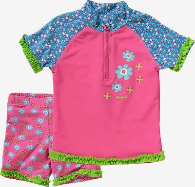 PLAYSHOES Schwimmanzug in blau / grün / pink, Produktansicht