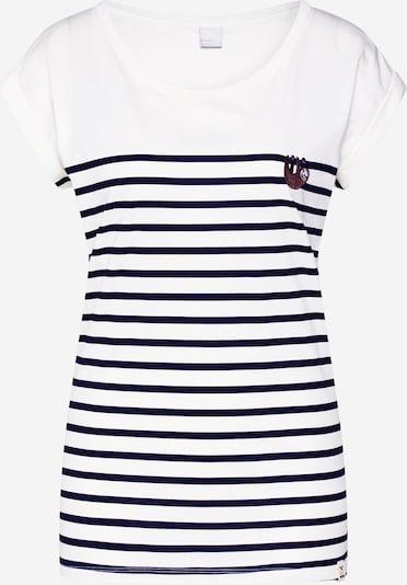 Iriedaily T-Shirt 'Slothy' in navy / beere / weiß, Produktansicht
