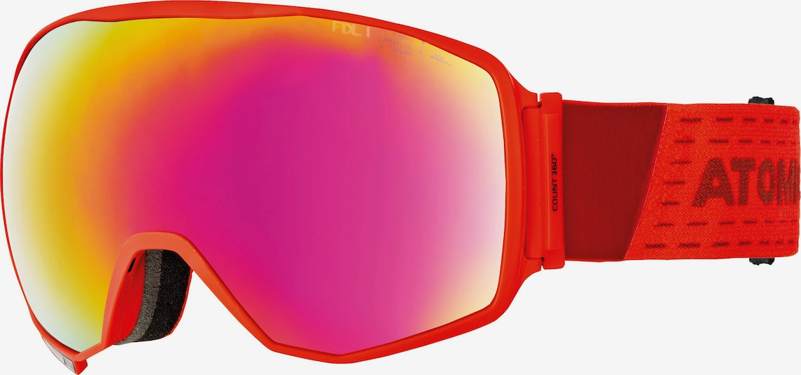 ATOMIC Skibrille 'Count 360° HD' in dunkelpink / feuerrot, Produktansicht