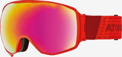 ATOMIC Skibrille 'Count 360° HD' in dunkelpink / feuerrot, Produktansicht