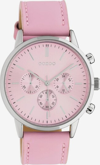 OOZOO Analoguhr in rosa / silber, Produktansicht