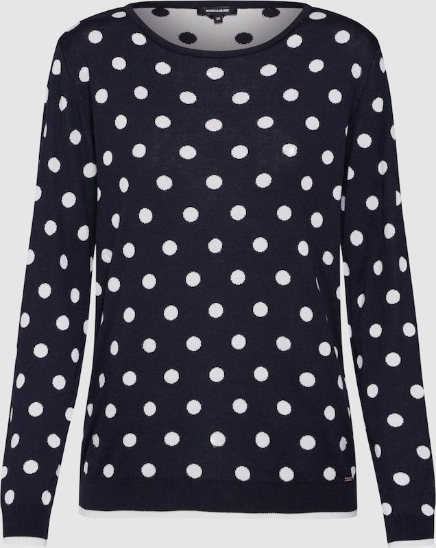 MORE & MORE Pullover Pullover Pullover 'Dot Active' in navy   weiß  Bequem und günstig c48daf