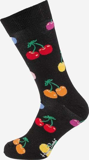 Happy Socks Socken 'Cherry' in rauchblau / gelb / grün / orange / schwarz, Produktansicht