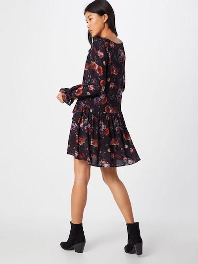 tigha Obleka 'Paulila Flower' | črna barva: Pogled od zadnje strani
