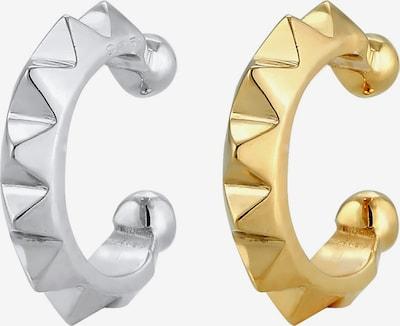 ELLI Ohrringe Earcuff, Geo, Bi_Color, Pyramide in gold / silber: Frontalansicht