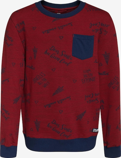 WE Fashion Sweatshirt in blau / rot, Produktansicht
