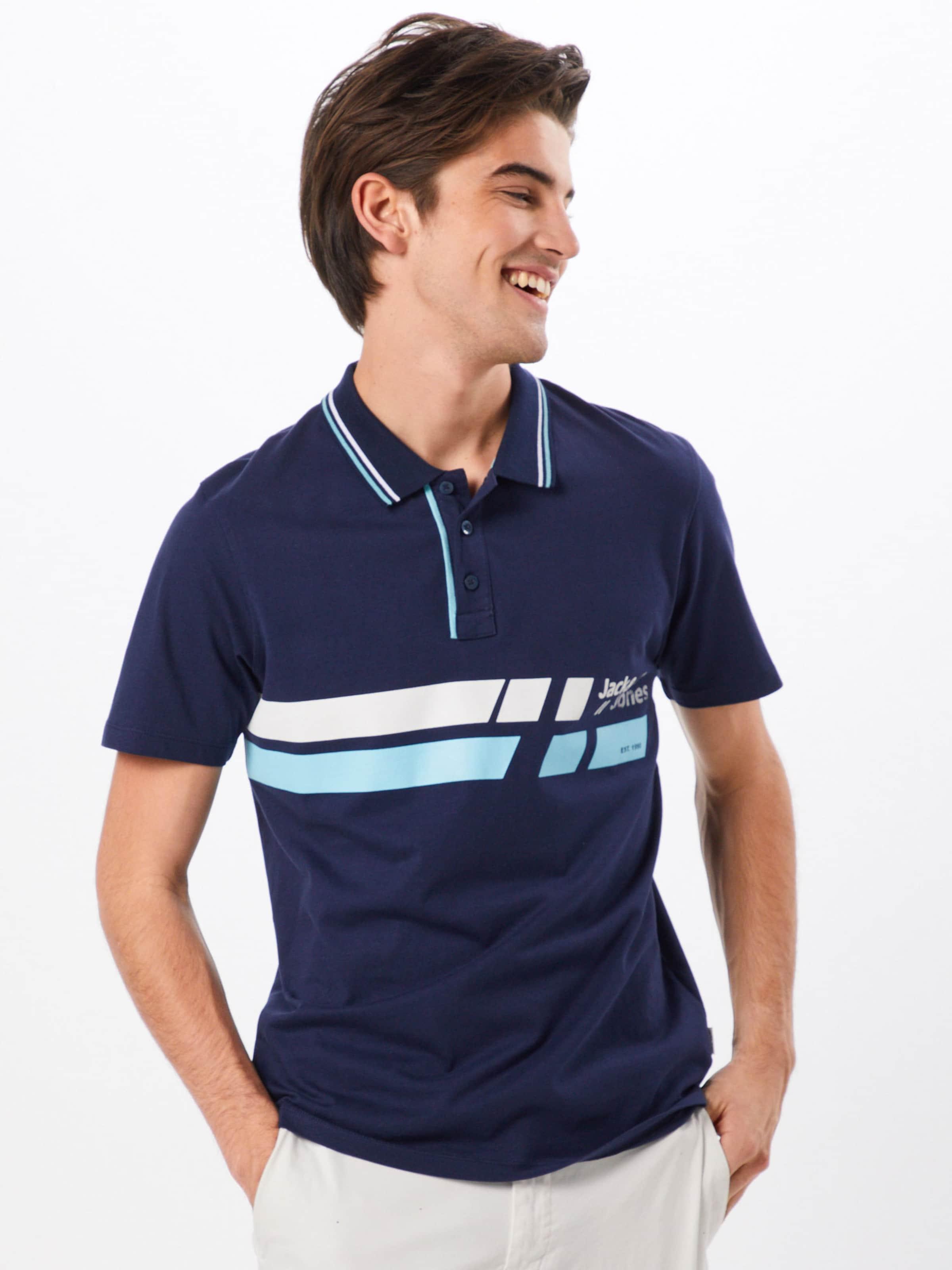 Jackamp; In LichtblauwDonkerblauw Shirt Jones Wit 9WHD2IE