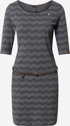 Ragwear Kleid 'Tanya' in grau / dunkelgrau / weiß, Produktansicht