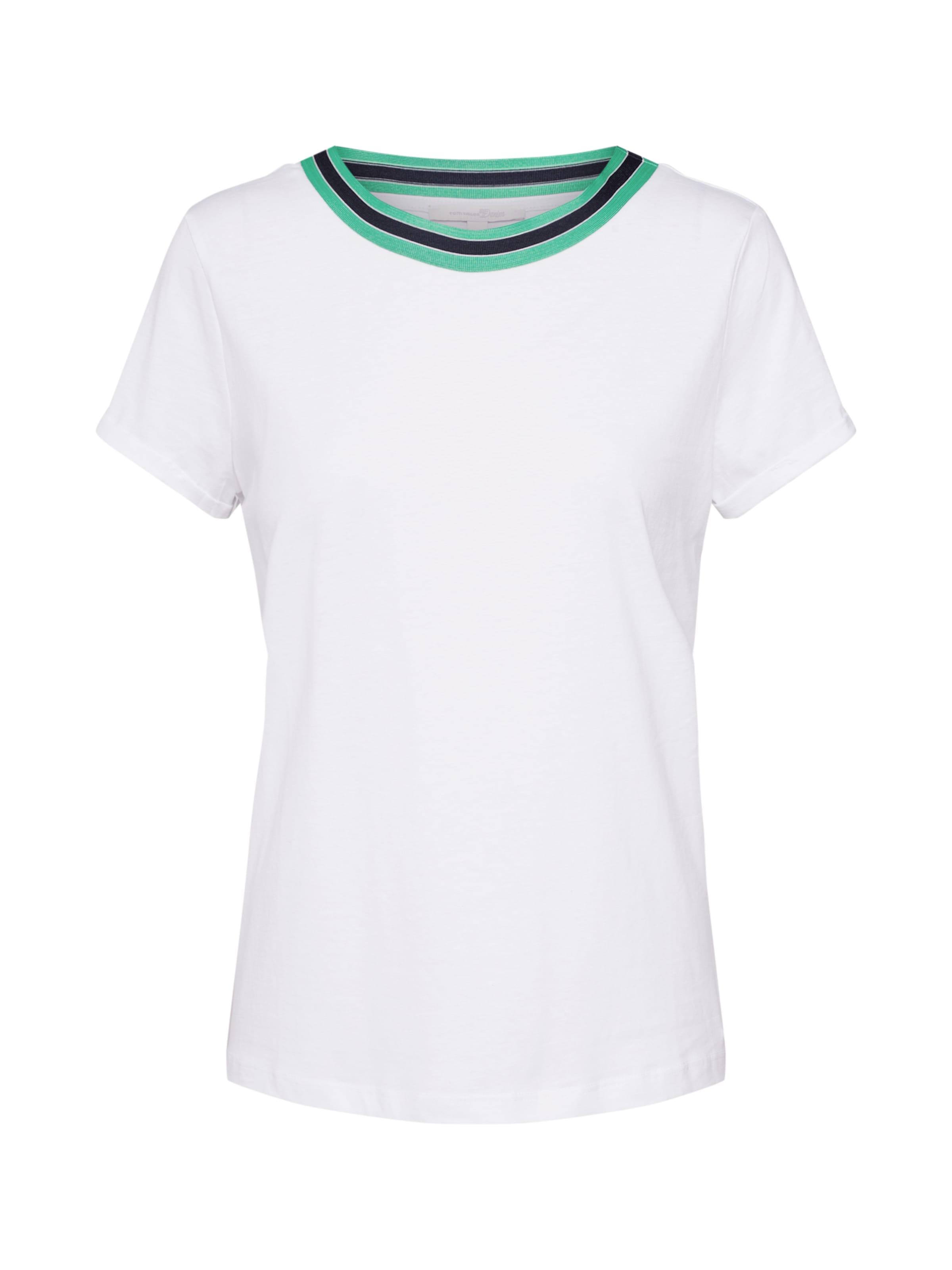 Tailor Denim Tom Shirt DunkelgrünWeiß In fgbY7yI6mv